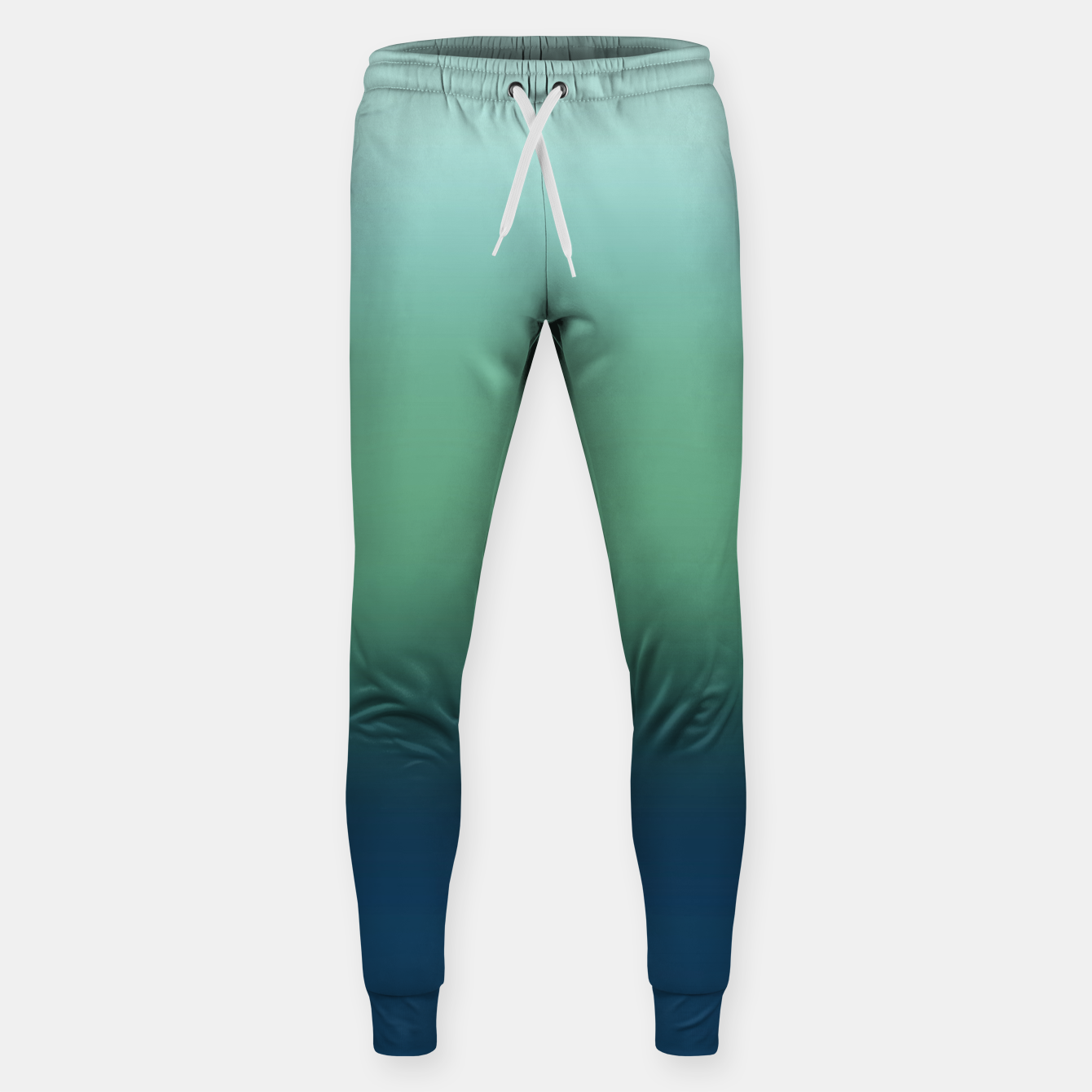 Image of Blue green blue ombre green bottle color sea ocean blurred Sweatpants - Live Heroes