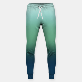 Blue green blue ombre green bottle color sea ocean blurred Sweatpants thumbnail image