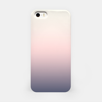 Pastel navy pink beige gradient ombre summer stylish color pure soft light monochrome iPhone Case Bild der Miniatur