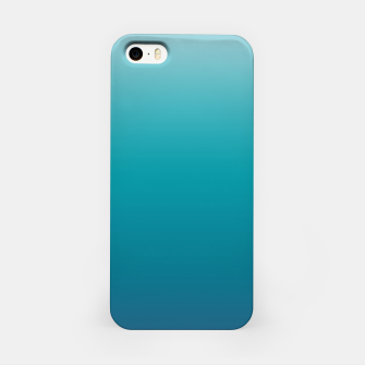 Pastel deep blue navy gray duotone sea ocean water gradient ombre summer stylish color pure soft light monochrome surfing iPhone Case thumbnail image