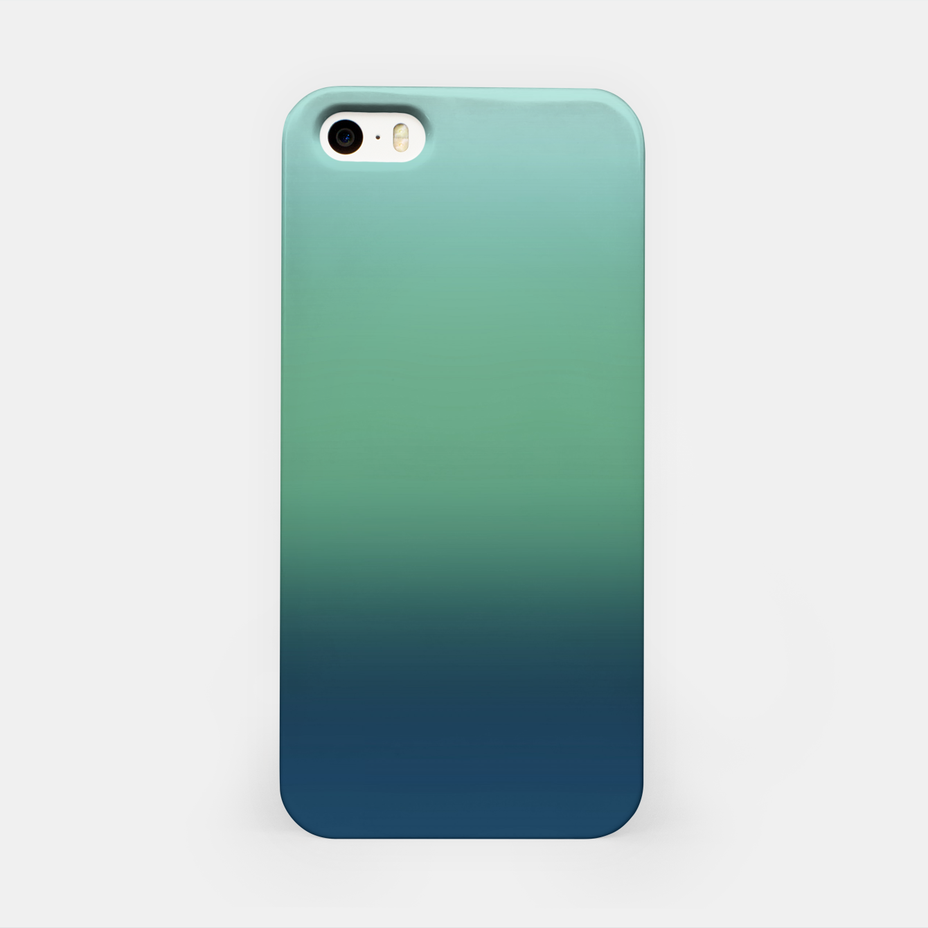 Image of Blue green blue ombre green bottle color sea ocean blurred iPhone Case - Live Heroes
