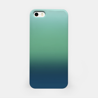 Blue green blue ombre green bottle color sea ocean blurred iPhone Case thumbnail image