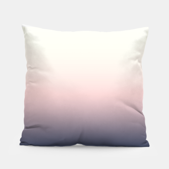Pastel navy pink beige gradient ombre summer stylish color pure soft light monochrome Pillow Bild der Miniatur