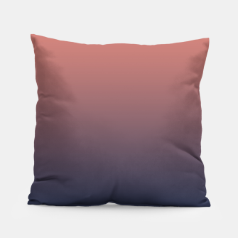 Dark navy brown duotone gradient ombre stylish color pure soft light monochrome Pillow thumbnail image
