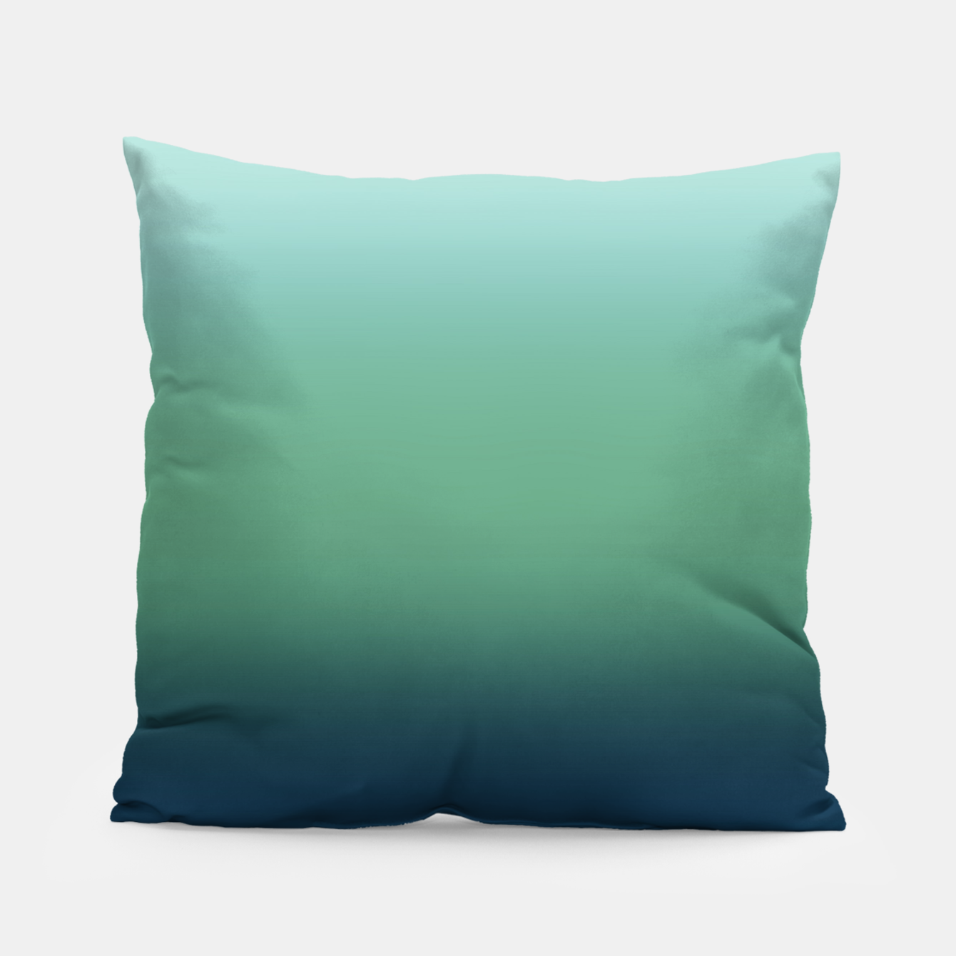 Image of Blue green blue ombre green bottle color sea ocean blurred Pillow - Live Heroes