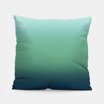 Blue green blue ombre green bottle color sea ocean blurred Pillow thumbnail image