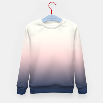 Pastel navy pink beige gradient ombre summer stylish color pure soft light monochrome Kid's sweater Bild der Miniatur