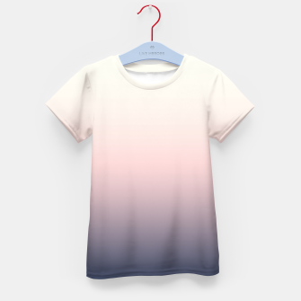 Pastel navy pink beige gradient ombre summer stylish color pure soft light monochrome Kid's t-shirt Bild der Miniatur