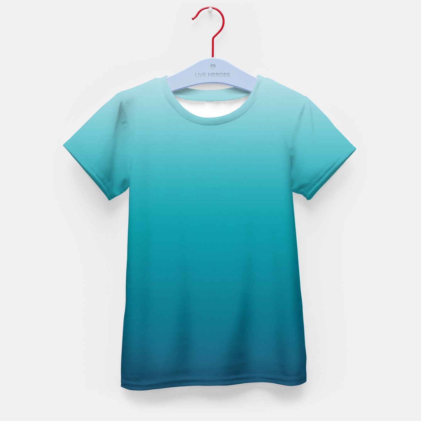 Foto Pastel deep blue navy gray duotone sea ocean water gradient ombre summer stylish color pure soft light monochrome surfing Kid's t-shirt - Live Heroes