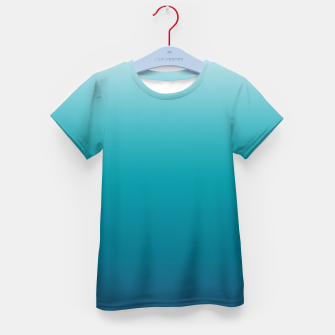 Imagen en miniatura de Pastel deep blue navy gray duotone sea ocean water gradient ombre summer stylish color pure soft light monochrome surfing Kid's t-shirt, Live Heroes