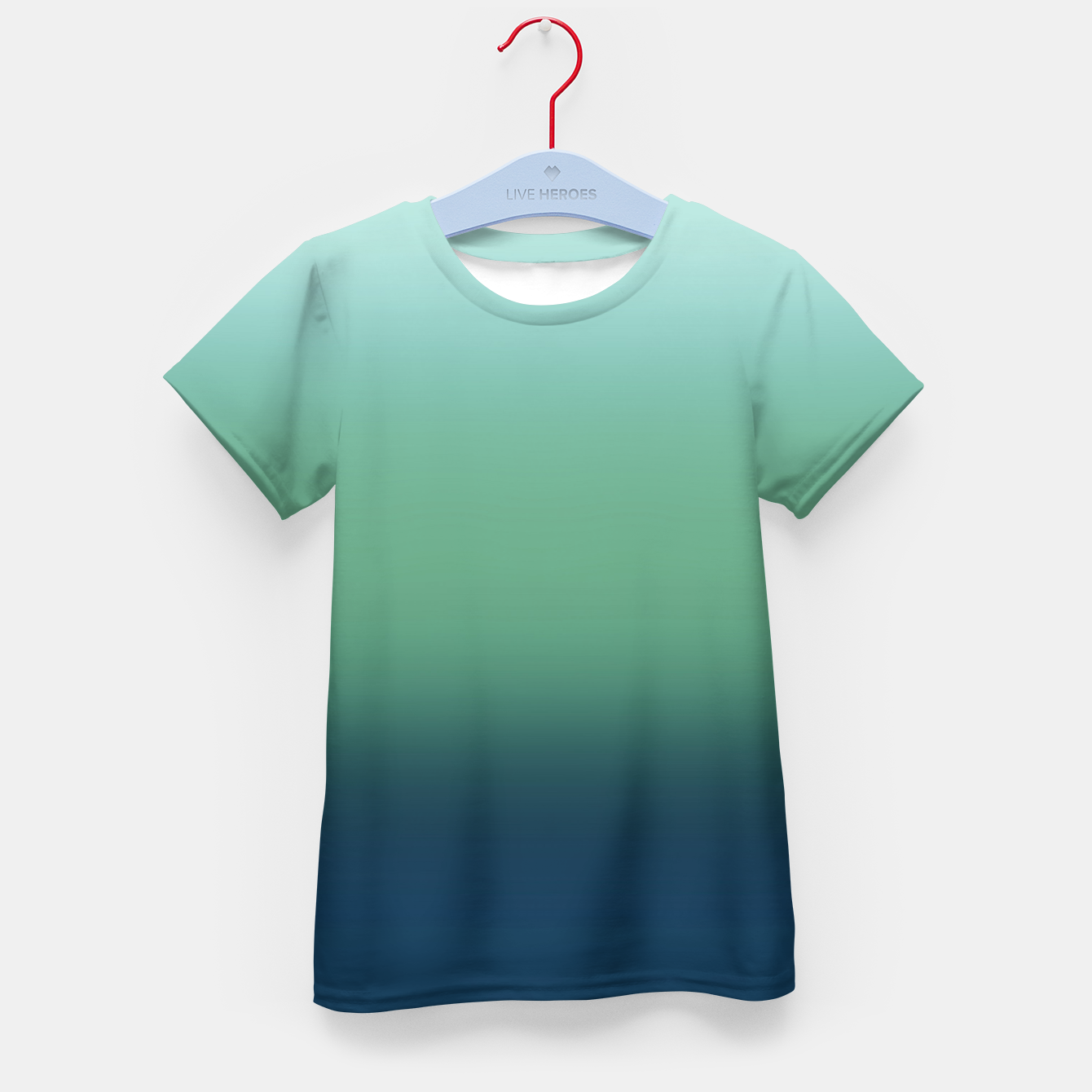 Image of Blue green blue ombre green bottle color sea ocean blurred Kid's t-shirt - Live Heroes