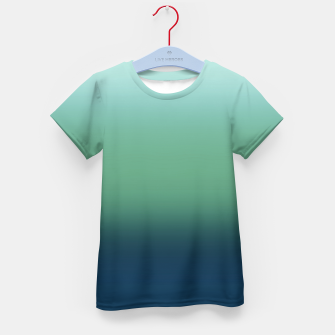 Blue green blue ombre green bottle color sea ocean blurred Kid's t-shirt thumbnail image