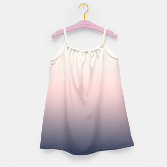 Pastel navy pink beige gradient ombre summer stylish color pure soft light monochrome Girl's dress Bild der Miniatur