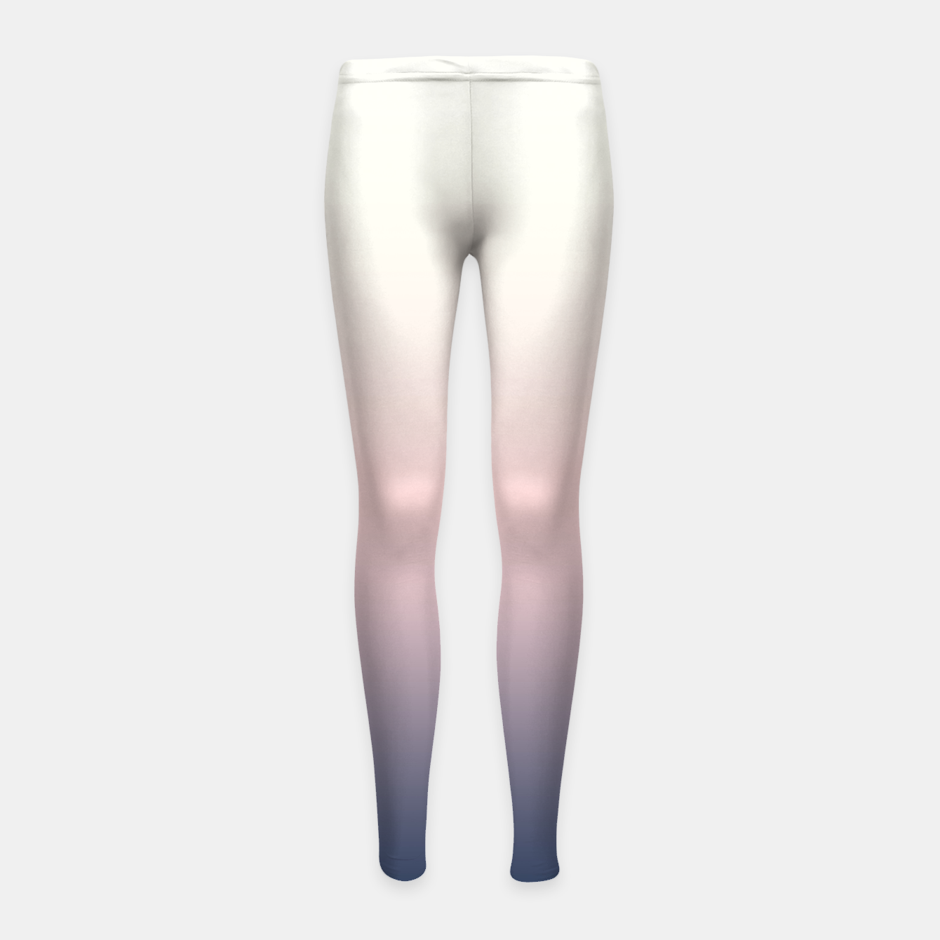 Foto Pastel navy pink beige gradient ombre summer stylish color pure soft light monochrome Girl's leggings - Live Heroes