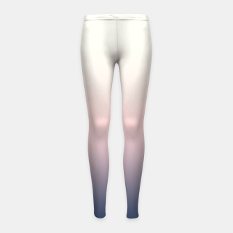Thumbnail image of Pastel navy pink beige gradient ombre summer stylish color pure soft light monochrome Girl's leggings, Live Heroes