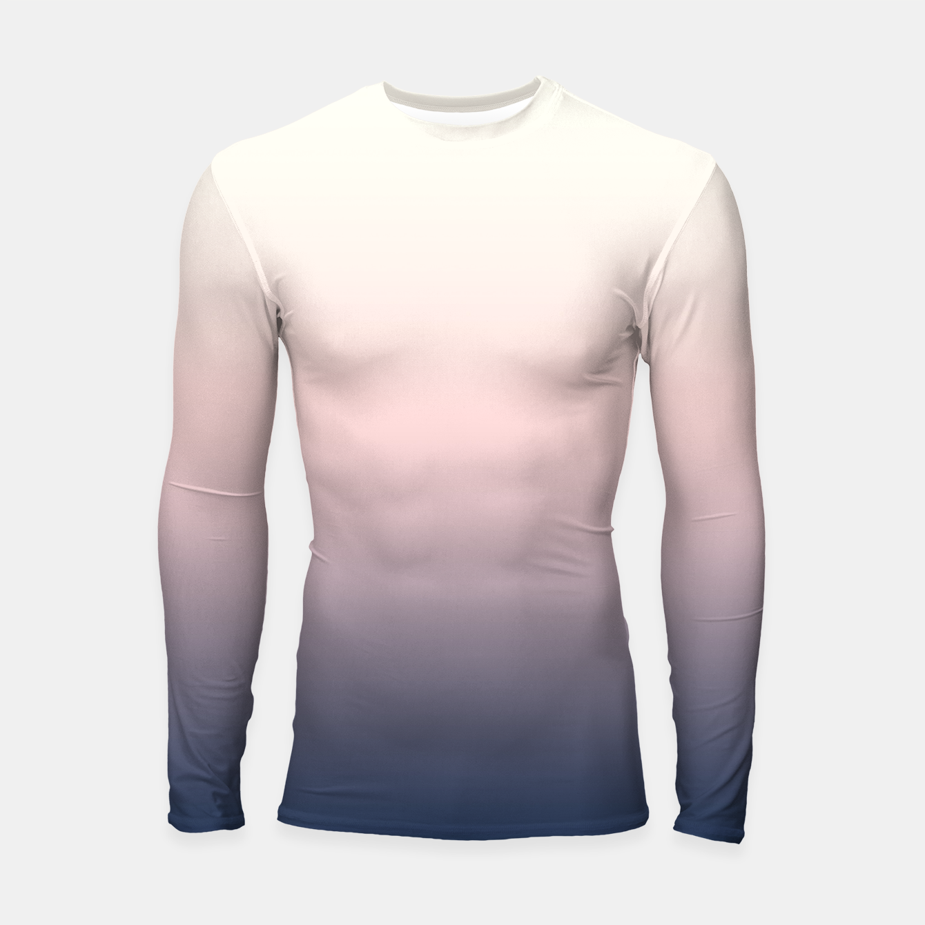 Image of Pastel navy pink beige gradient ombre summer stylish color pure soft light monochrome Longsleeve rashguard  - Live Heroes