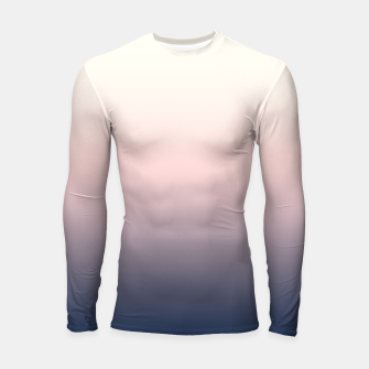 Pastel navy pink beige gradient ombre summer stylish color pure soft light monochrome Longsleeve rashguard  Bild der Miniatur