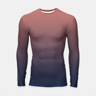 Thumbnail image of Dark navy brown duotone gradient ombre stylish color pure soft light monochrome Longsleeve rashguard , Live Heroes