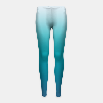 Pastel deep blue navy gray duotone sea ocean water gradient ombre summer stylish color pure soft light monochrome surfing Girl's leggings thumbnail image