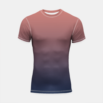 Thumbnail image of Dark navy brown duotone gradient ombre stylish color pure soft light monochrome Shortsleeve rashguard, Live Heroes