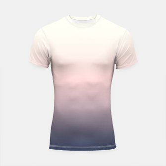Pastel navy pink beige gradient ombre summer stylish color pure soft light monochrome Shortsleeve rashguard Bild der Miniatur