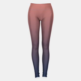 Thumbnail image of Dark navy brown duotone gradient ombre stylish color pure soft light monochrome Leggings, Live Heroes