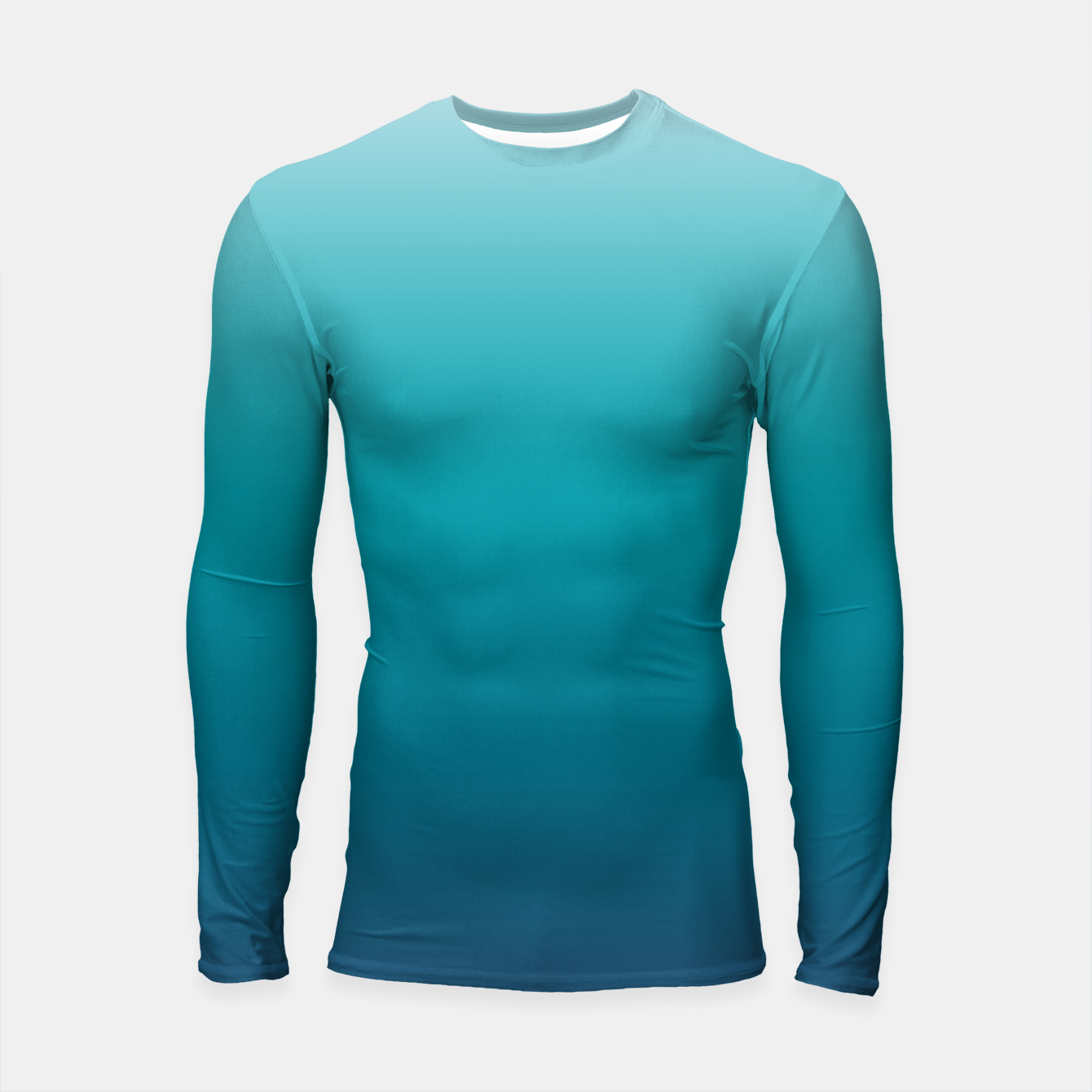 Foto Pastel deep blue navy gray duotone sea ocean water gradient ombre summer stylish color pure soft light monochrome surfing Longsleeve rashguard  - Live Heroes