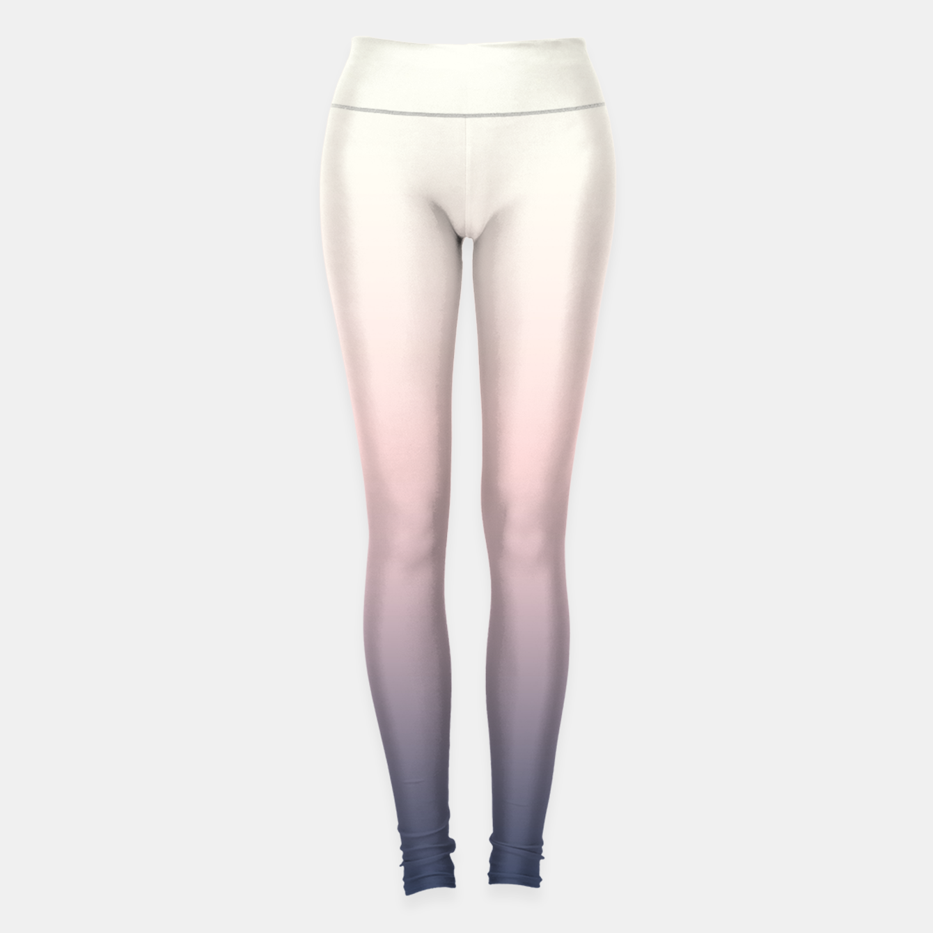 Image of Pastel navy pink beige gradient ombre summer stylish color pure soft light monochrome Leggings - Live Heroes