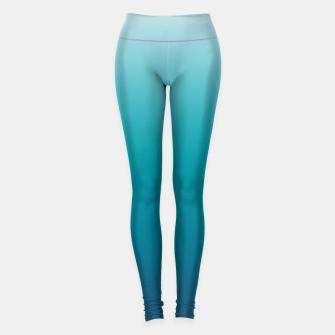 Pastel deep blue navy gray duotone sea ocean water gradient ombre summer stylish color pure soft light monochrome surfing Leggings thumbnail image