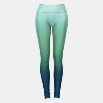 Thumbnail image of Blue green blue ombre green bottle color sea ocean blurred Leggings, Live Heroes