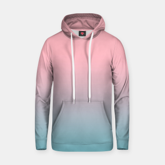 Pastel pink blue duotone gradient ombre summer stylish color pure soft light cotton candy bubble gum Hoodie thumbnail image
