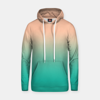 Pastel blush coral bottle green duotone gradient ombre summer stylish color pure soft light monochrome Hoodie thumbnail image