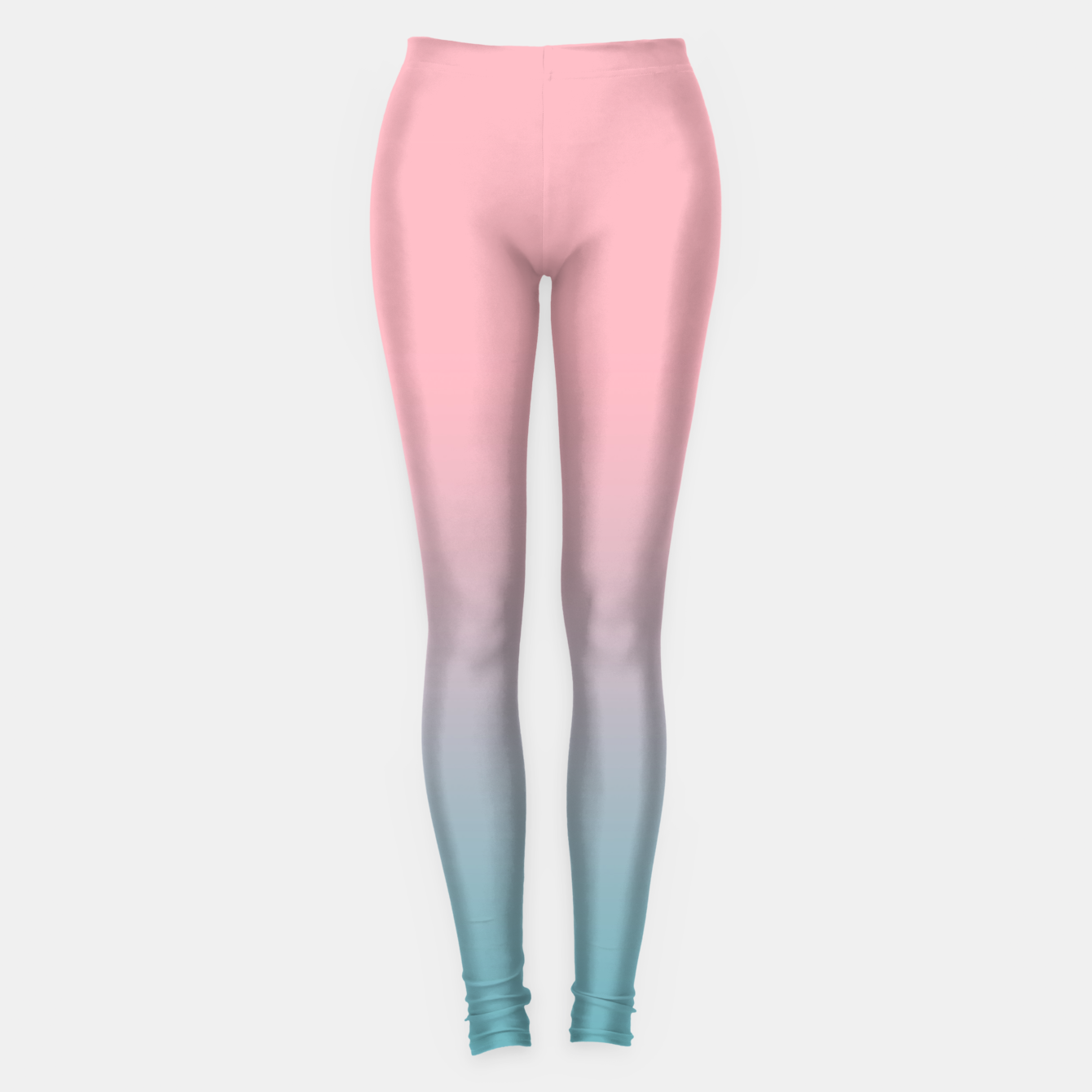 Foto Pastel pink blue duotone gradient ombre summer stylish color pure soft light cotton candy bubble gum Leggings - Live Heroes