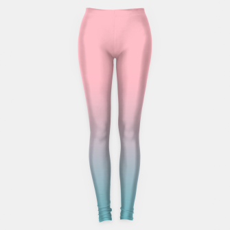 Thumbnail image of Pastel pink blue duotone gradient ombre summer stylish color pure soft light cotton candy bubble gum Leggings, Live Heroes