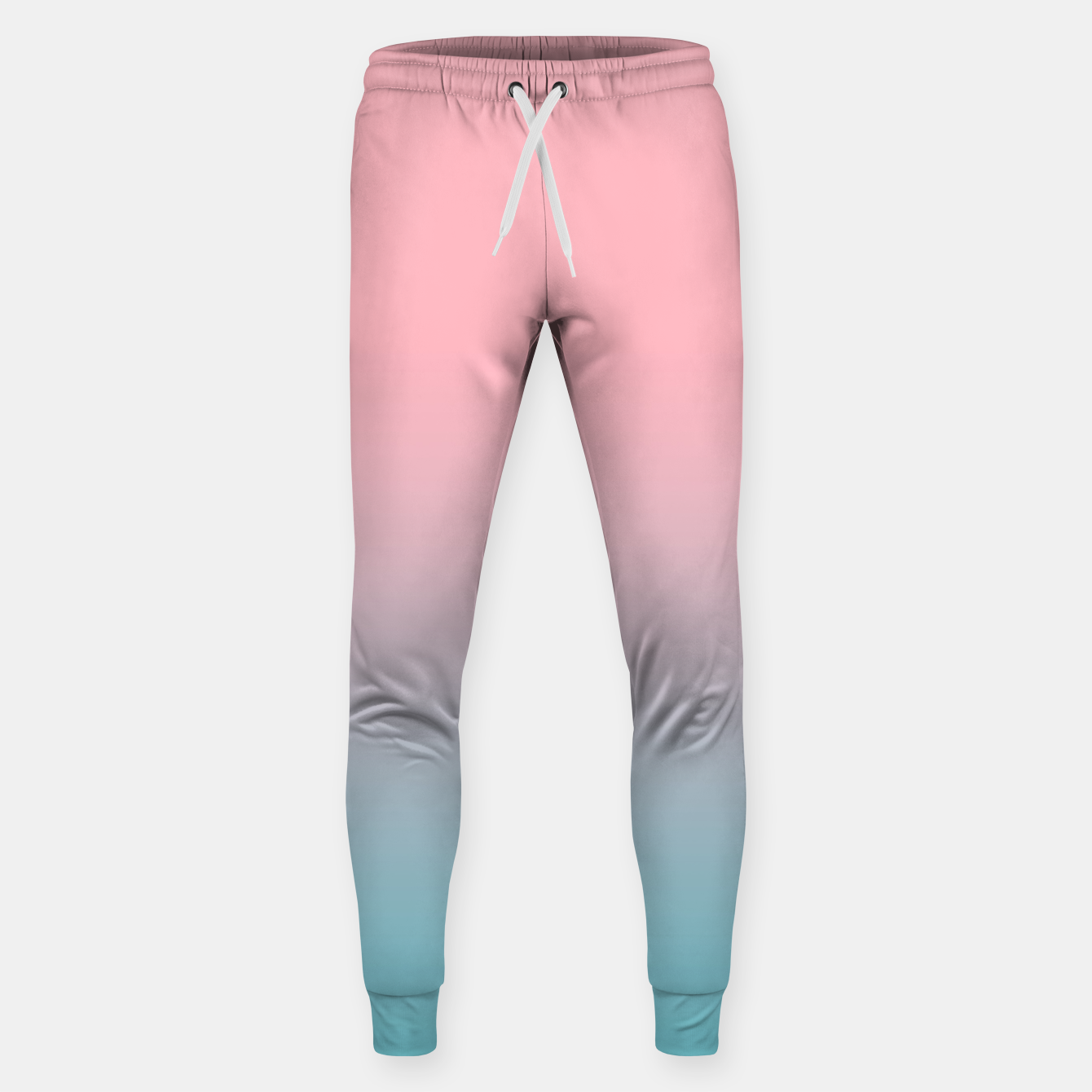 Foto Pastel pink blue duotone gradient ombre summer stylish color pure soft light cotton candy bubble gum Sweatpants - Live Heroes