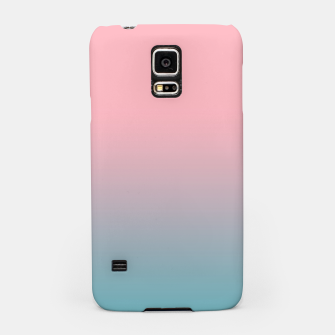 Pastel pink blue duotone gradient ombre summer stylish color pure soft light cotton candy bubble gum Samsung Case thumbnail image