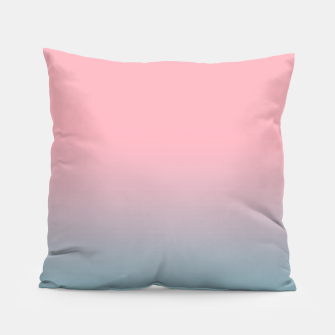 Pastel pink blue duotone gradient ombre summer stylish color pure soft light cotton candy bubble gum Pillow thumbnail image