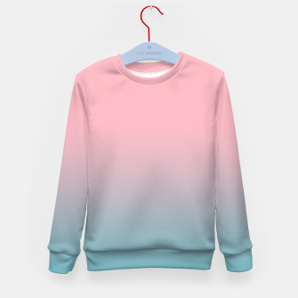 Pastel pink blue duotone gradient ombre summer stylish color pure soft light cotton candy bubble gum Kid's sweater thumbnail image