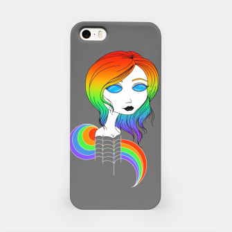 Miniaturka Blue Eyes and Rainbow Hair iPhone Case, Live Heroes