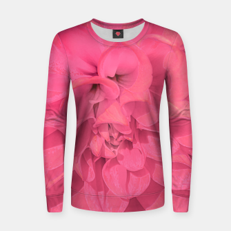 Thumbnail image of Beauty Pink Rose Detail Photo Women sweater, Live Heroes