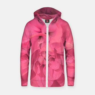 Miniaturka Beauty Pink Rose Detail Photo Zip up hoodie, Live Heroes
