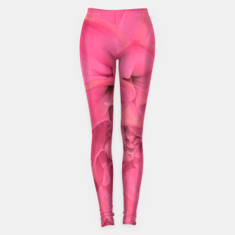 Thumbnail image of Beauty Pink Rose Detail Photo Leggings, Live Heroes