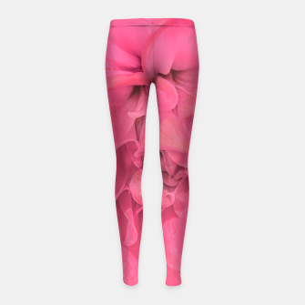 Miniaturka Beauty Pink Rose Detail Photo Girl's leggings, Live Heroes