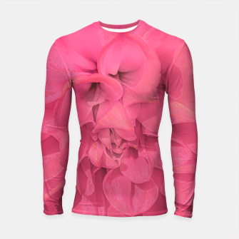 Thumbnail image of Beauty Pink Rose Detail Photo Longsleeve rashguard , Live Heroes