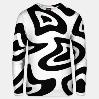 Miniatur Abstract pattern - black and white. Unisex sweater, Live Heroes