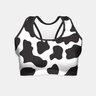 Thumbnail image of Cow Print Crop Top, Live Heroes