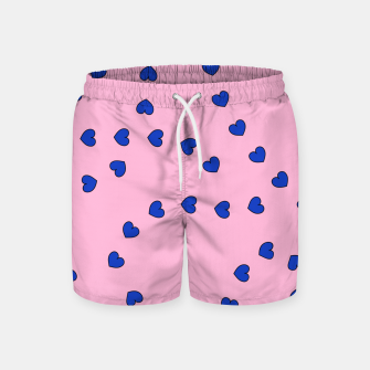 Thumbnail image of String of Hearts Swim Shorts, Live Heroes