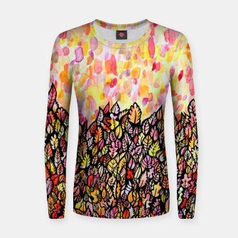 Thumbnail image of Autumn Foliage Women sweater, Live Heroes