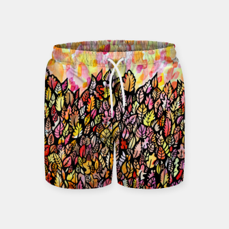 Thumbnail image of Autumn Foliage Swim Shorts, Live Heroes