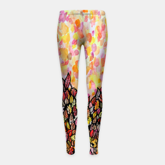 Thumbnail image of Autumn Foliage Girl's leggings, Live Heroes